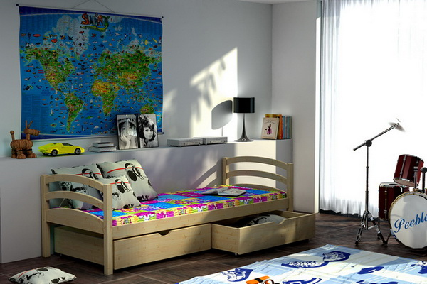 Dětská dřevěná postel VL 06