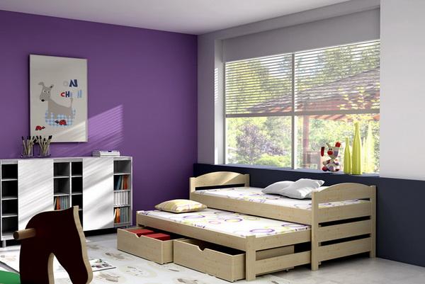 Dětská dřevěná postel s přistýlkou VLM 09