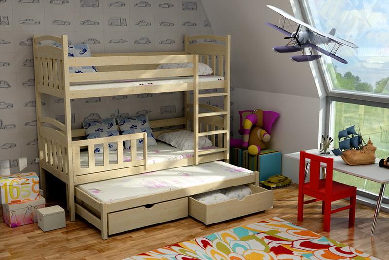 Patrová postel pro děti s přistýlkou LLP 01