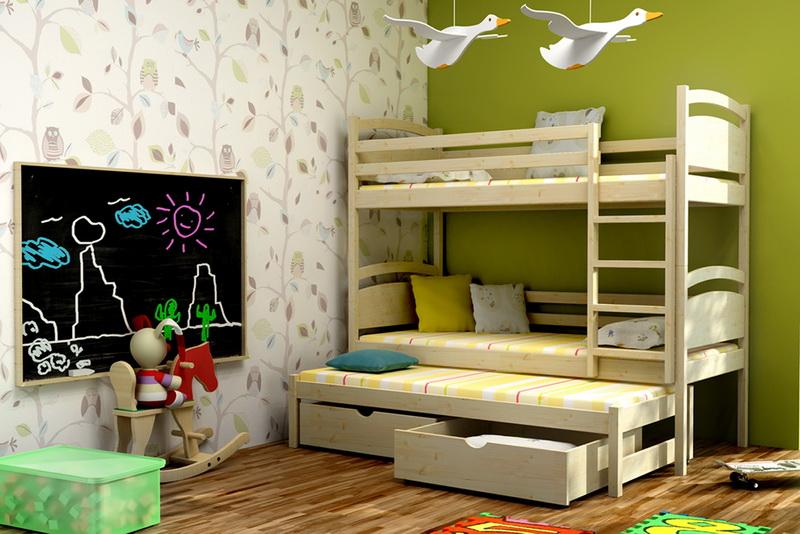 Patrová postel pro děti s přistýlkou LLP 02