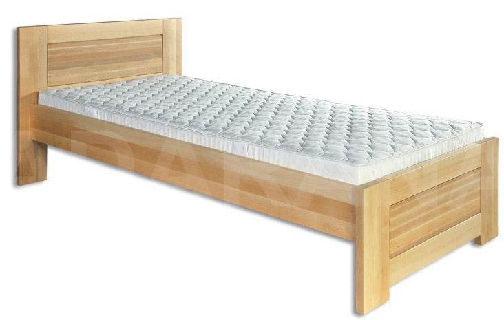Dřevěná postel jednolůžko - borovice