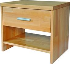 Noční stolek z masivního bukového dřeva TNS 2