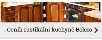 Ceník rustikální kuchyně na míru Bolero