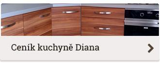 Ceník moderní kuchyně na míru Diana