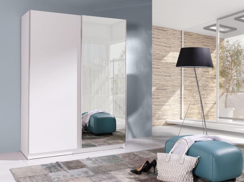 Šatní skříň s posuvnými dveřmi a zrcadlem Bambo 2