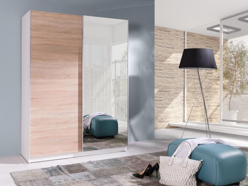 Šatní skříň s posuvnými dveřmi a zrcadlem Bambo 5
