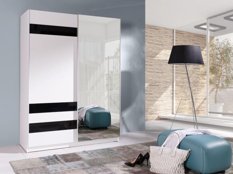 Šatní skříň s posuvnými dveřmi a zrcadlem Bambo 7