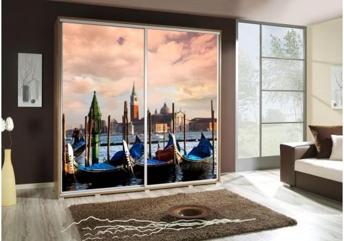 Šatní skříň s posuvnými dveřmi a obrázkem P - Benátky 4