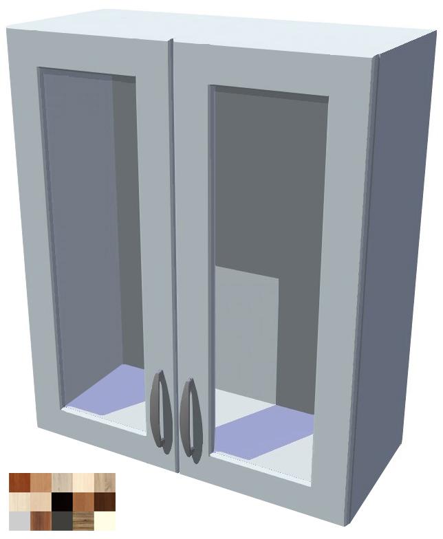 Horní skříňka Tina vitrína 2D 60 cm