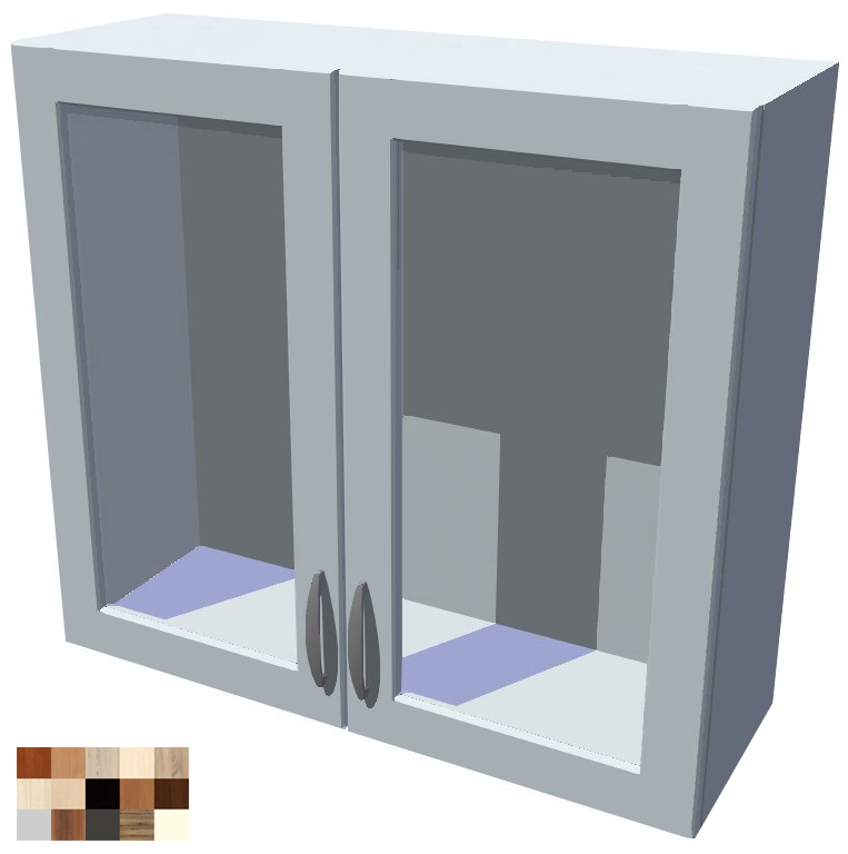 Horní skříňka Tina vitrína 2D 80 cm