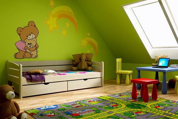 Dětská dřevěná postel se zábranou VL 10 - výprodej