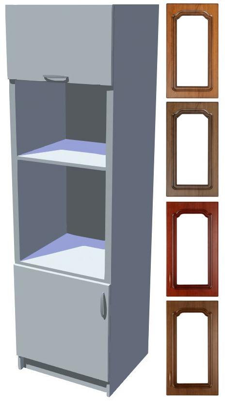 Rustikální skříň Bolero na vestavnou troubu a mikrovlnku