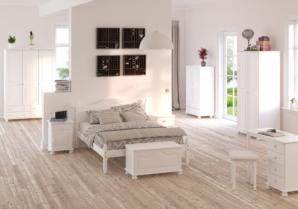 Dřevěná ložnice Richmond - bílá