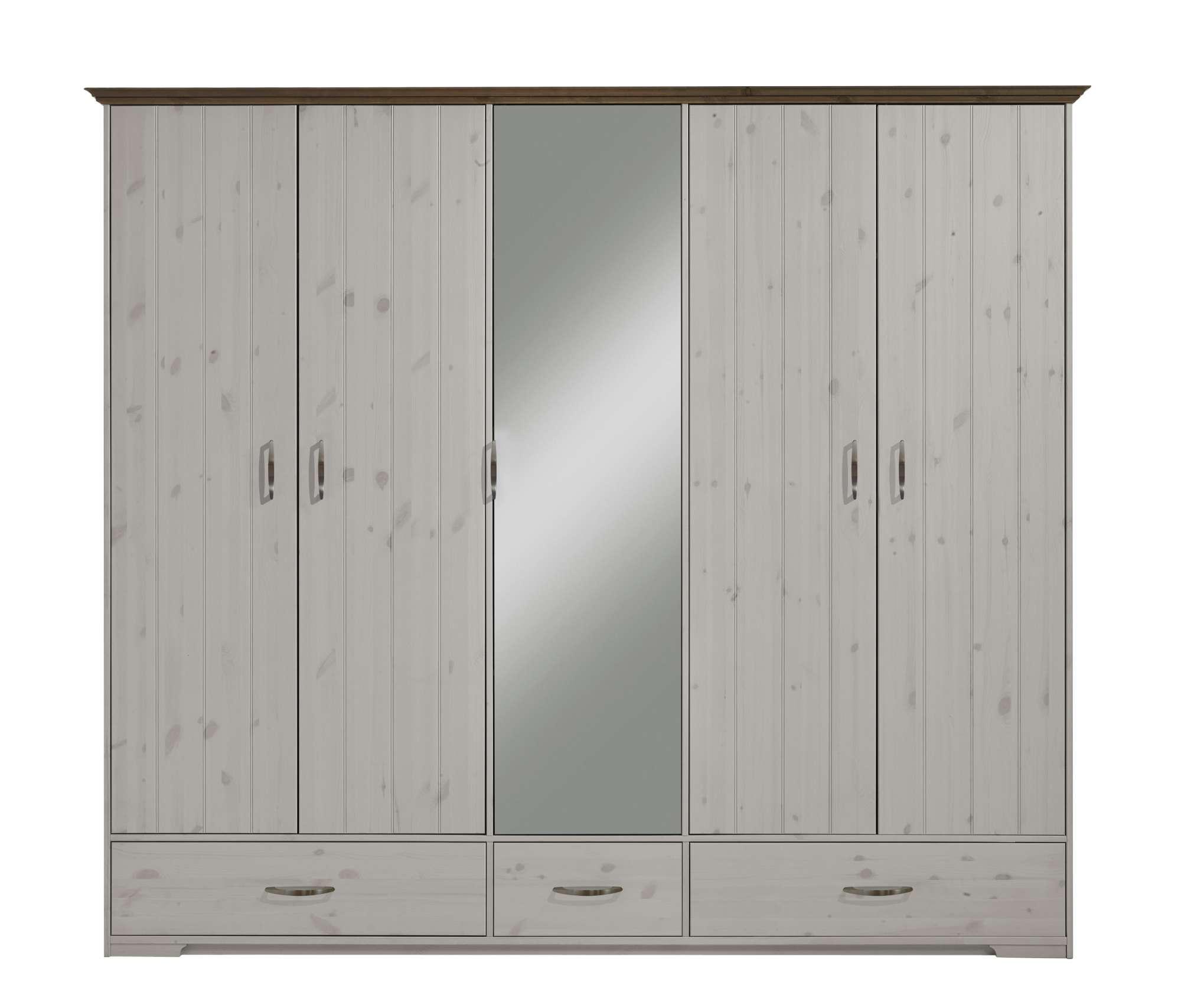 Šatní skříň se zrcadlem Hanstholm 115
