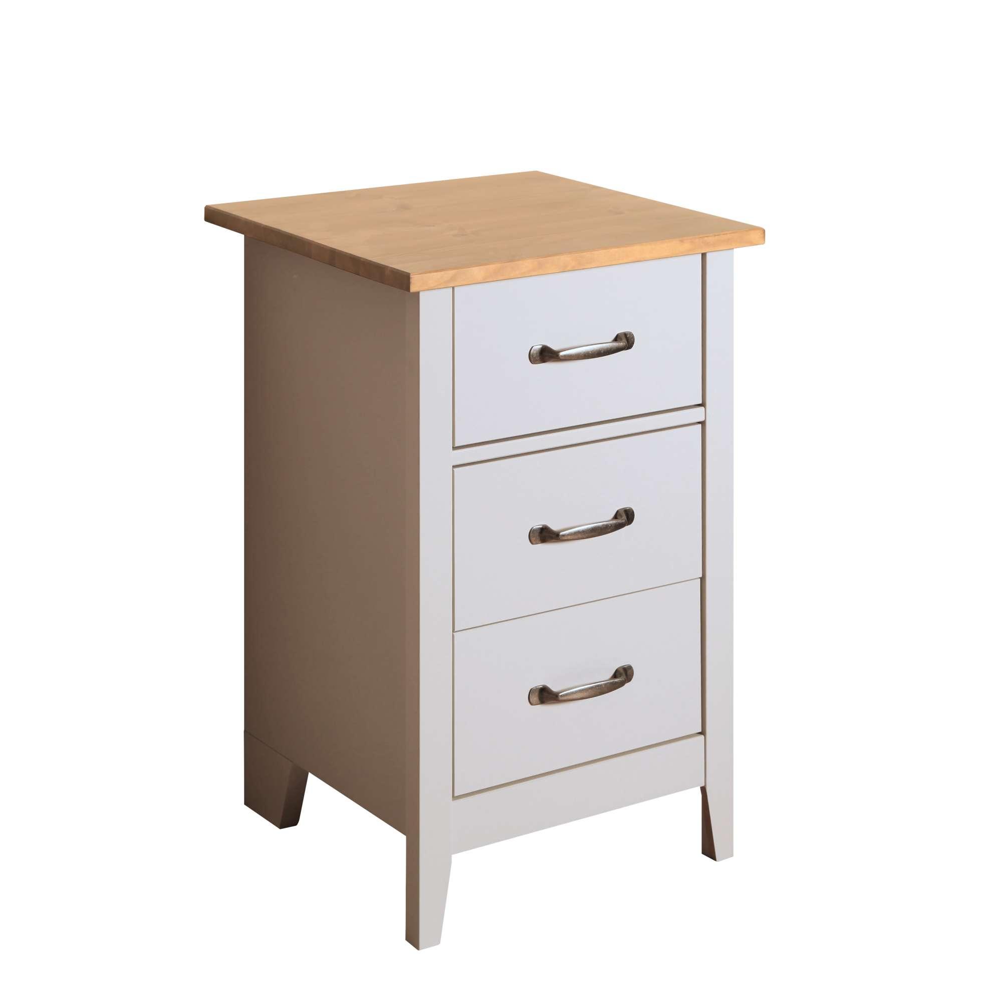 Noční stolek z borovice Norfolk 003 šedý