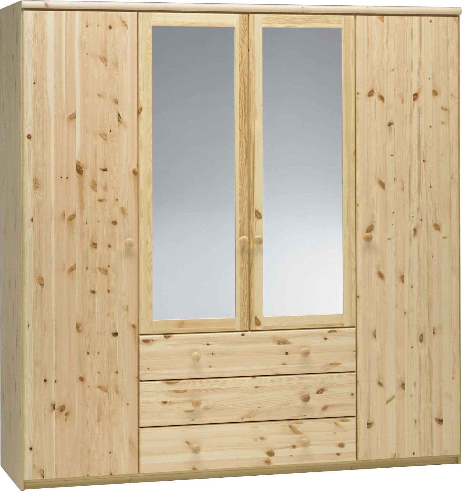 Šatní skříň z borovice Axel se zrcadlem