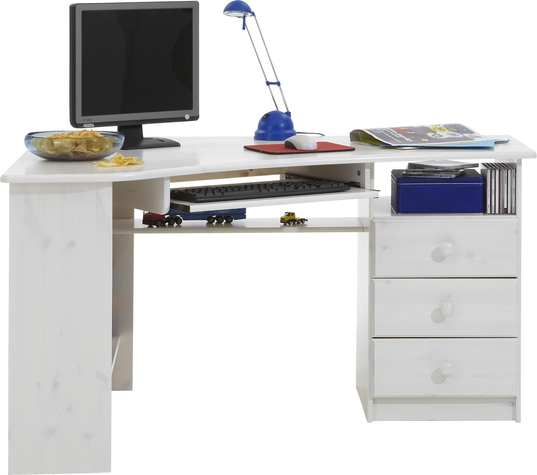 Rohový psací stůl borovice Kent 279