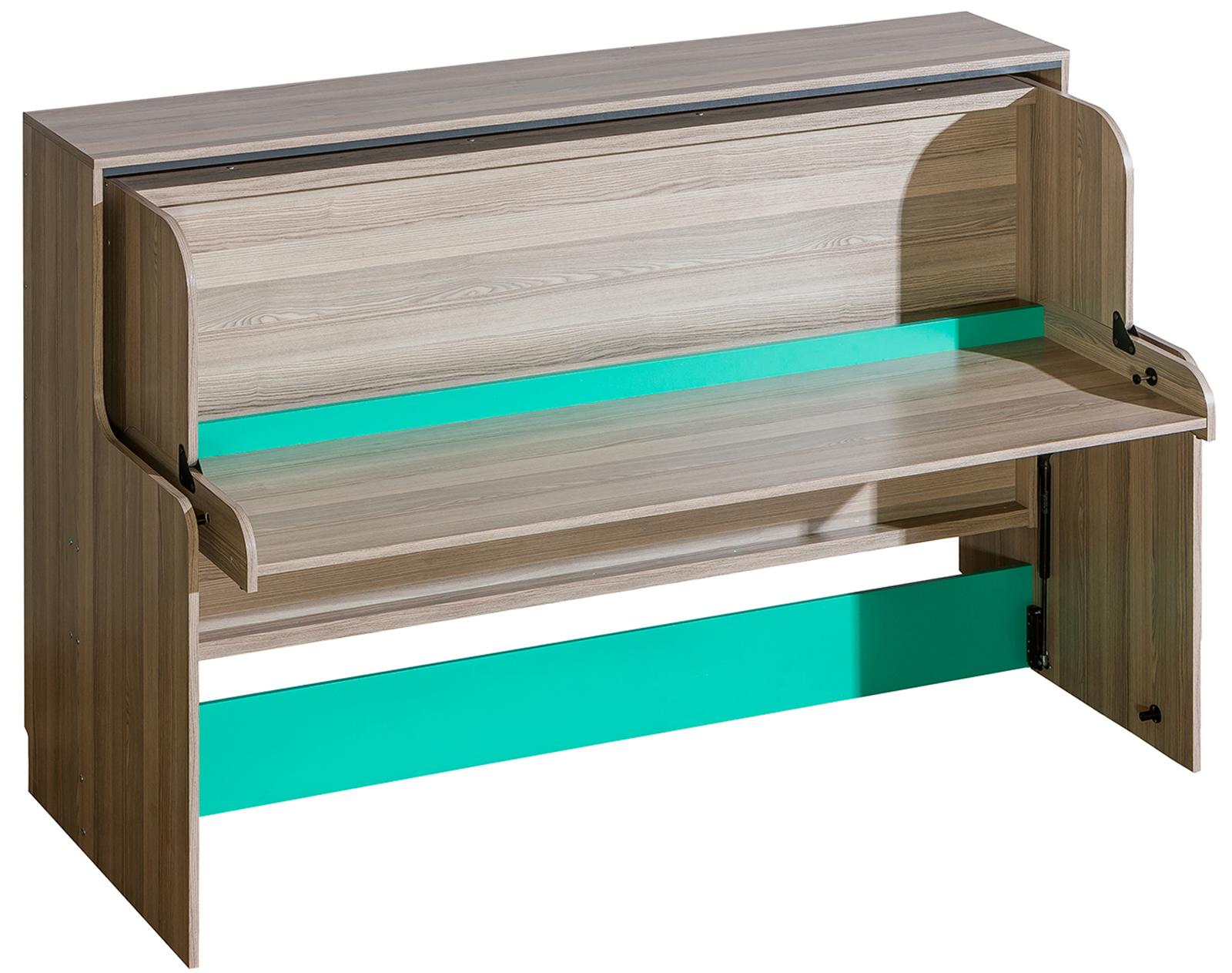Postel se zabudovaným psacím stolem Venuše V16