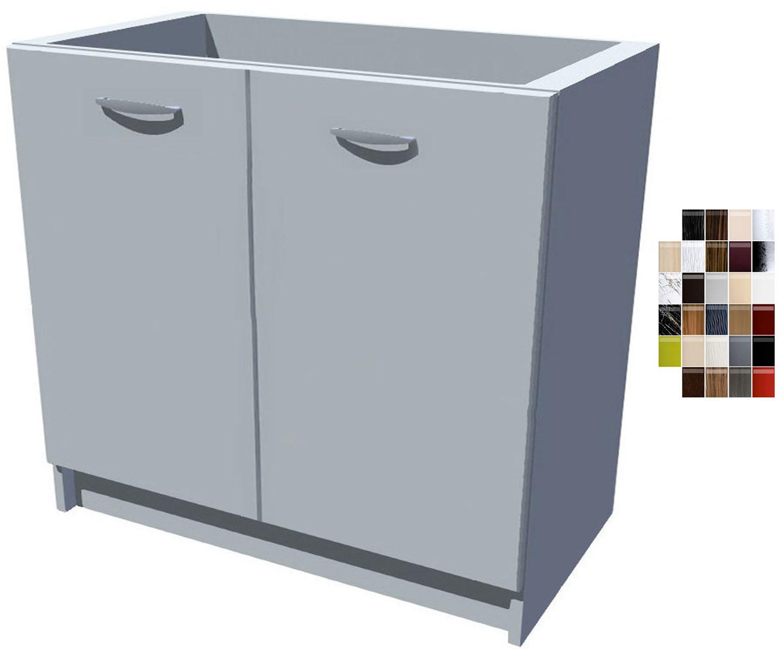 Lesklá dřezová kuchyňská skříňka Carmen 90 2D dřez