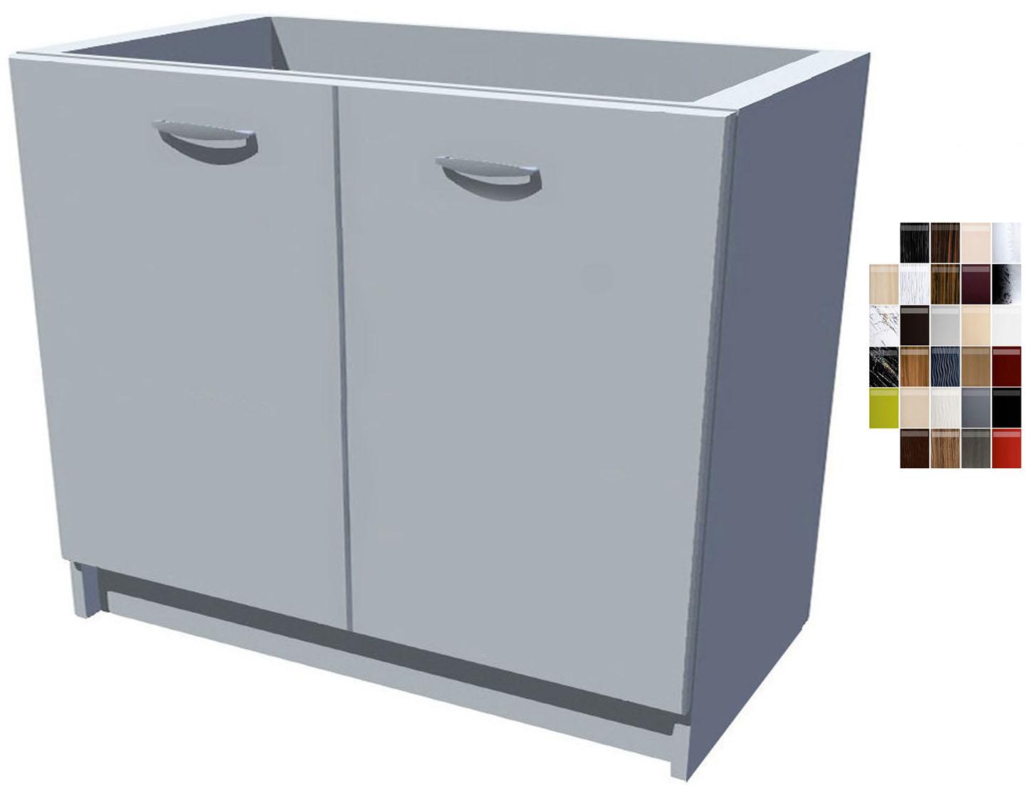 Lesklá dřezová kuchyňská skříňka Carmen 100 2D dřez
