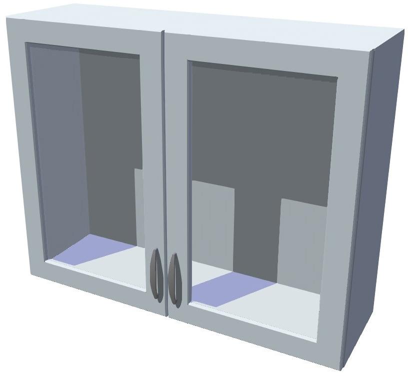 Horní skříňka Diana vitrína 2D 90 cm