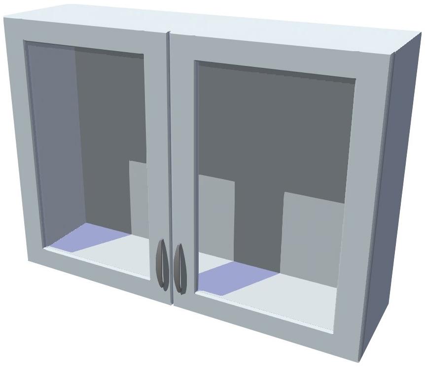 Horní skříňka Diana vitrína 2D 100 cm