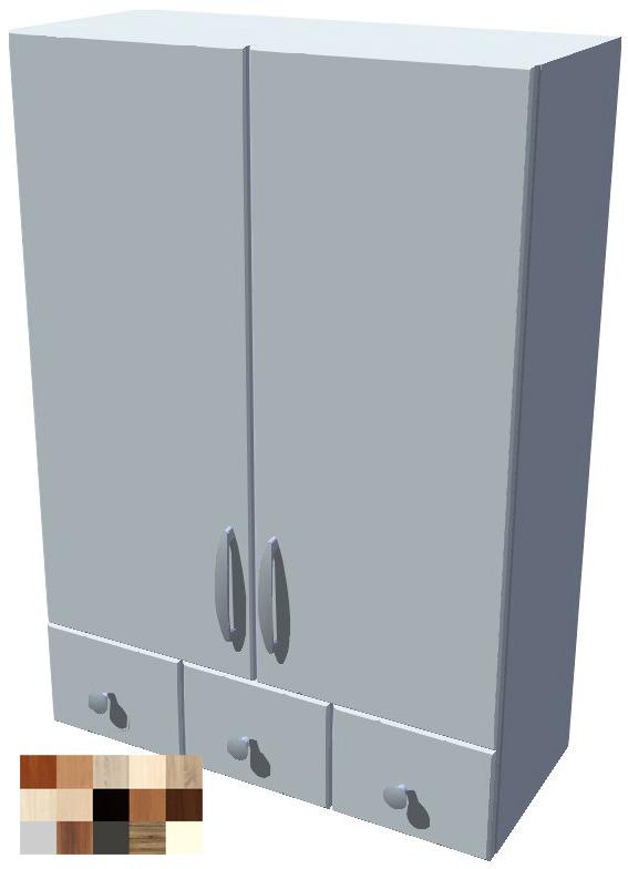 Horní 2D stojací skříňka Tina se šuplíky 60 cm - výška 121 cm