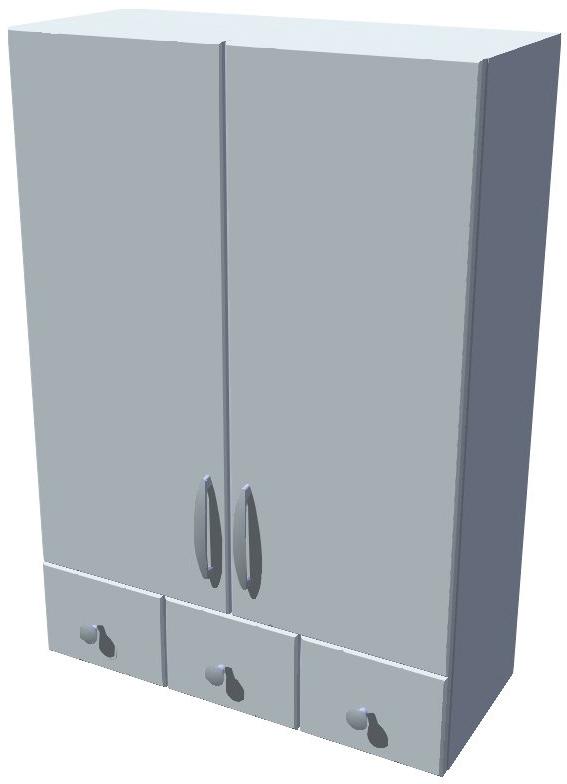 Horní stojací skříňka Diana se šuplíky 60 cm - výška 121 cm