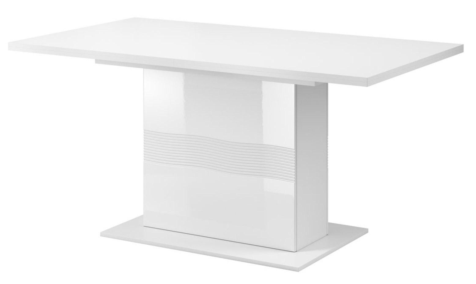 Bílý lesklý rozkládací stůl All star AB 10