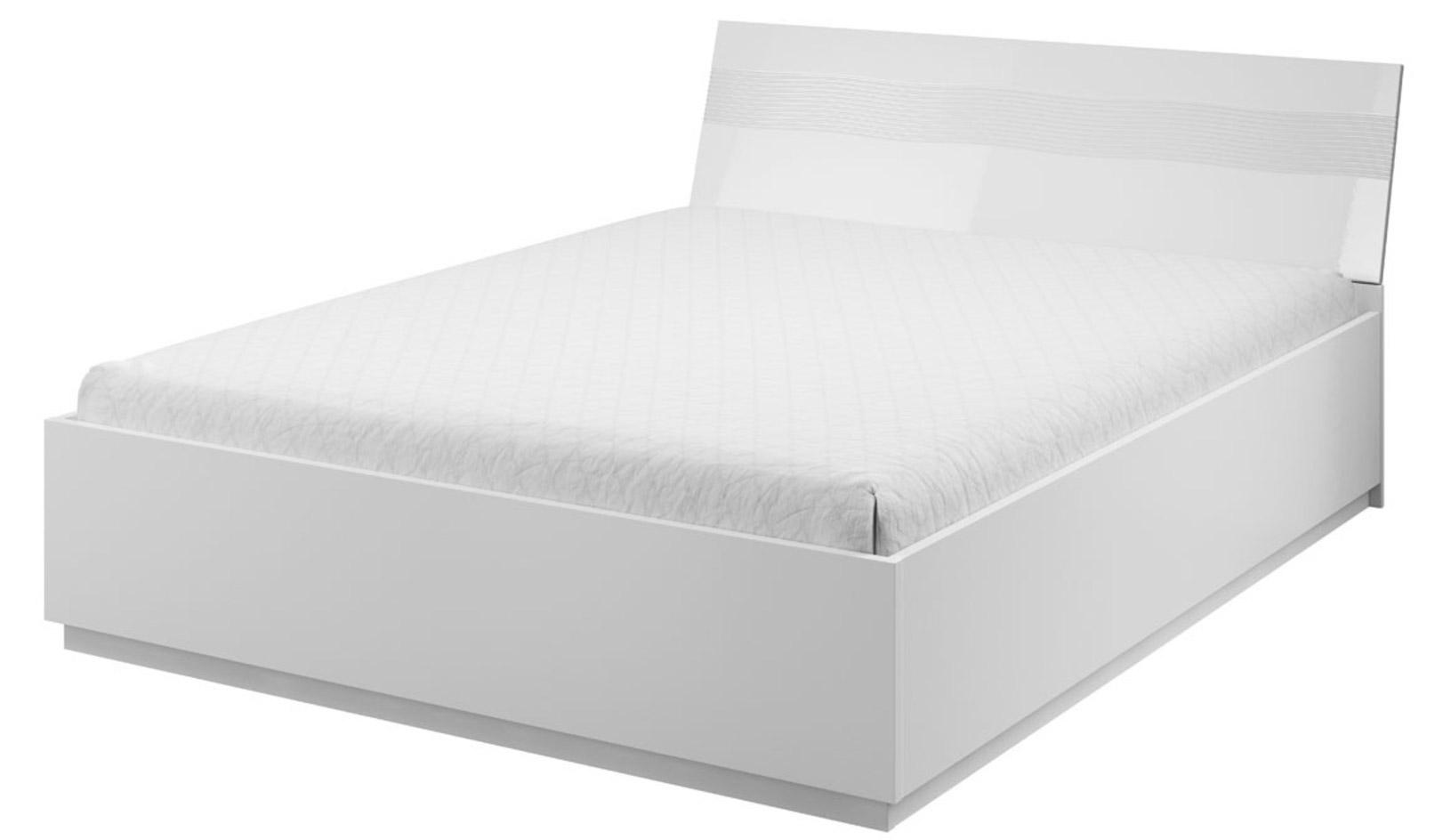 Bílá manželská postel s úložným prostorem All star AB 13