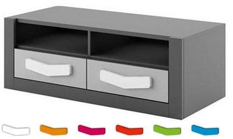 TV stolek s dvěma šuplíky Bloom 18
