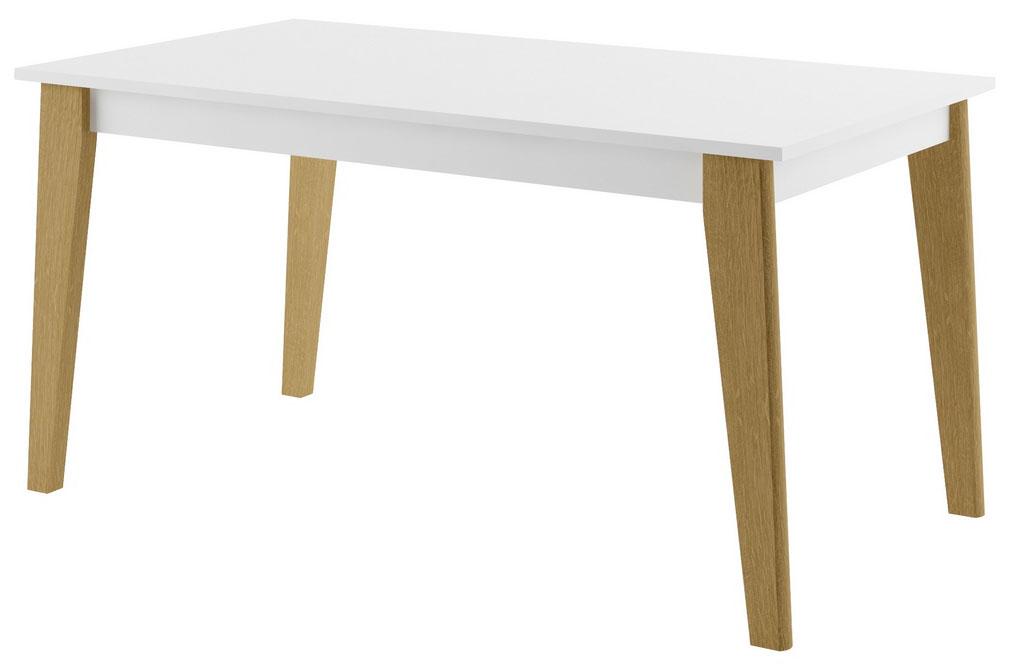 Bílý rozkládací jídelní stůl Marina 12