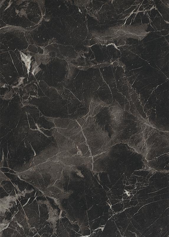Zadní obkladová deska do kuchyně F142 ST15 Mramor Eramosa černý