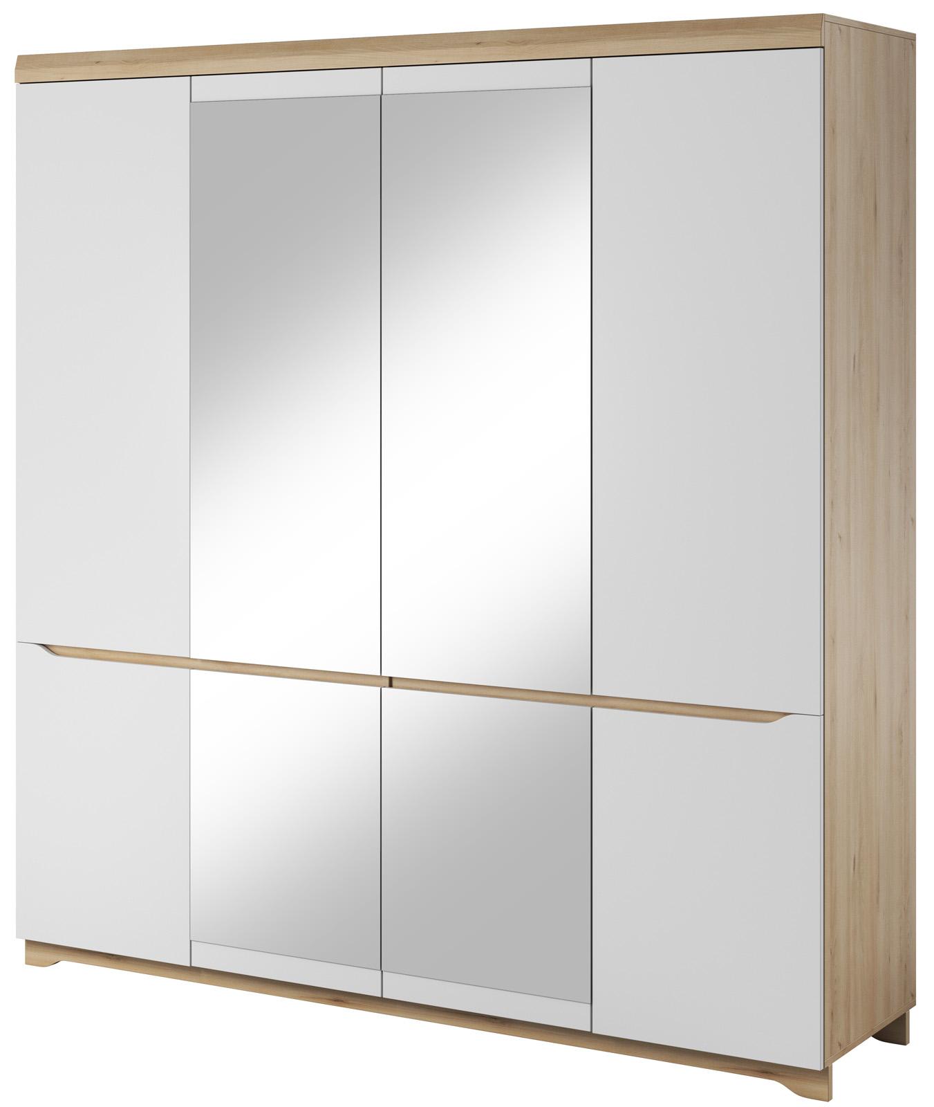 Šatní skříň bílá se zrcadly Antonio