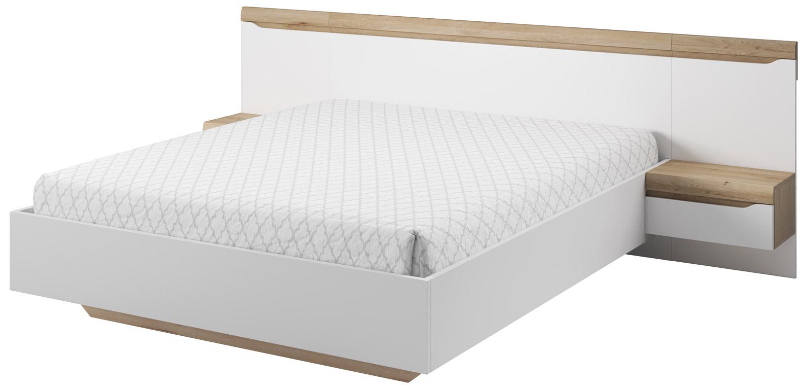 Manželská postel bílá Antonio