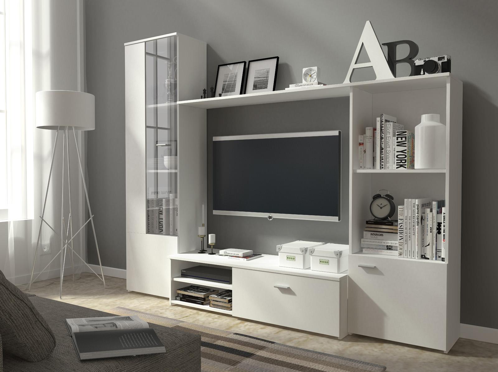 Bílá obývací stěna Harry