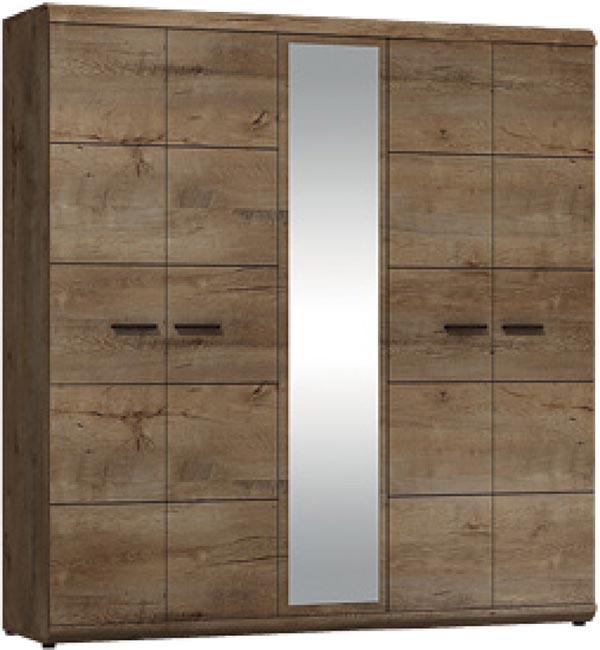Šatní skříň se zrcadlem Elena 200 cm