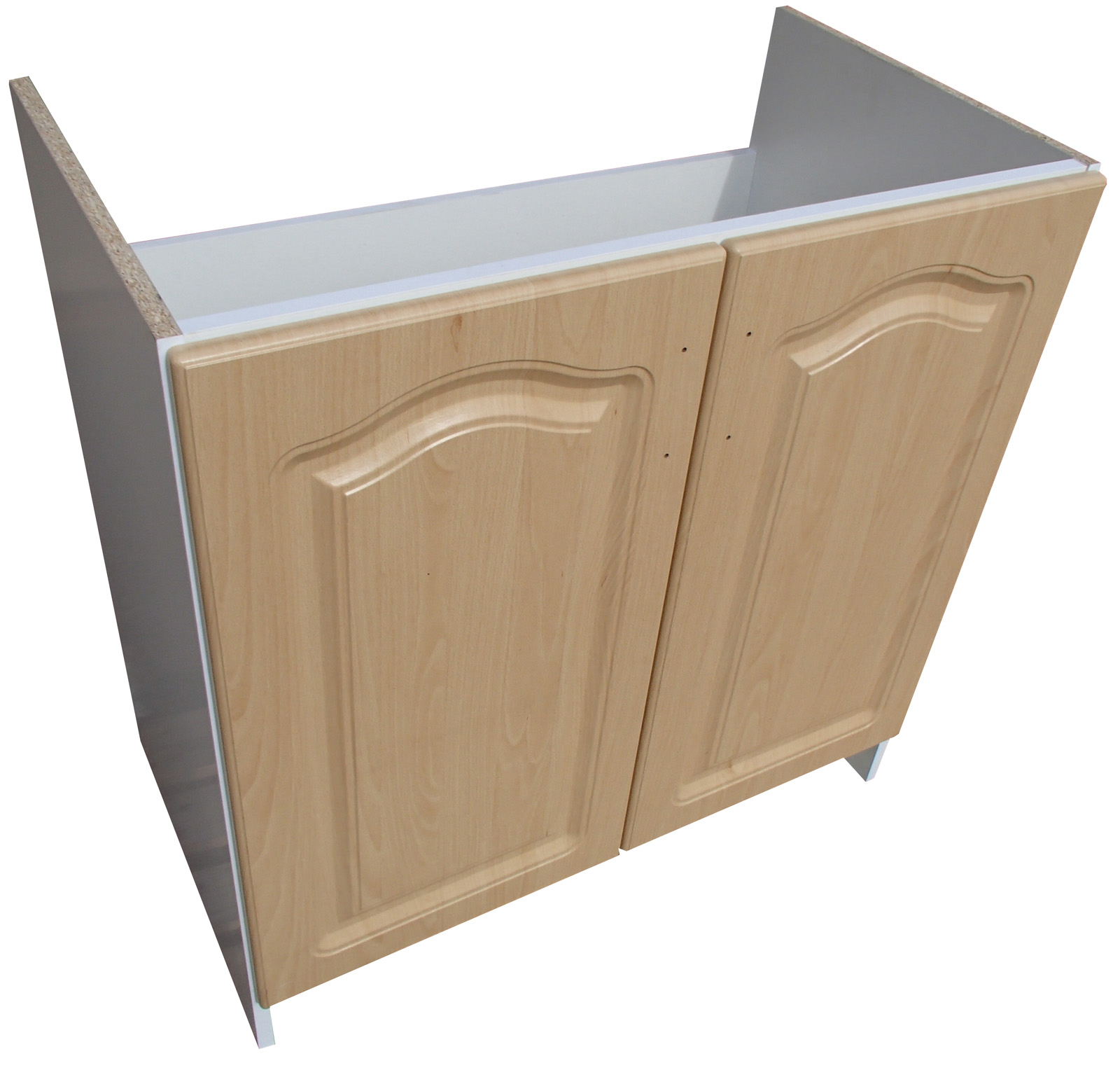 Dřezová skříňka 80 cm - buk/ bílá VÝPRODEJ