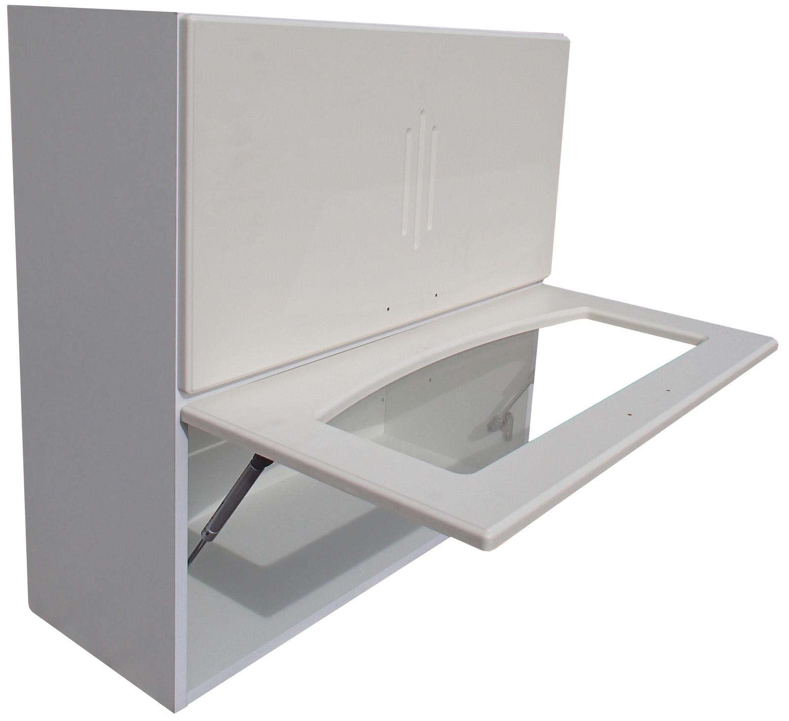 Horní dvojitý výklop 70x72 cm - bílý VÝPRODEJ