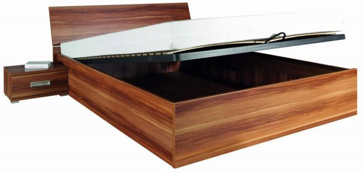 Manželská postel s úložným prostorem a matrací Penelopa P5 VÝPRODEJ