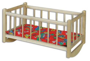 Dřevěná postýlka hračka AD265 VÝPRODEJ