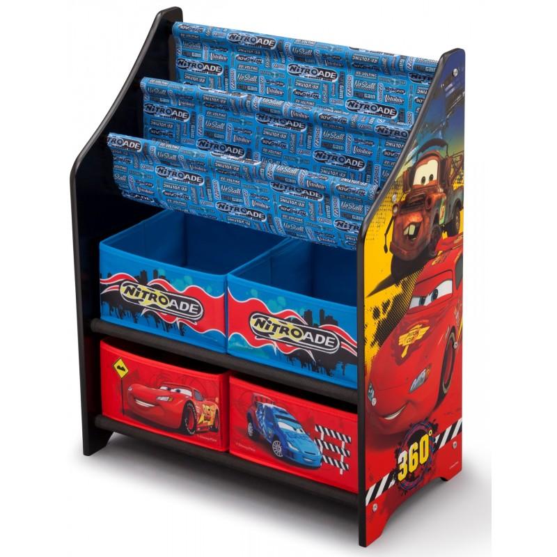 Dětský regál na hračky Auta-Cars