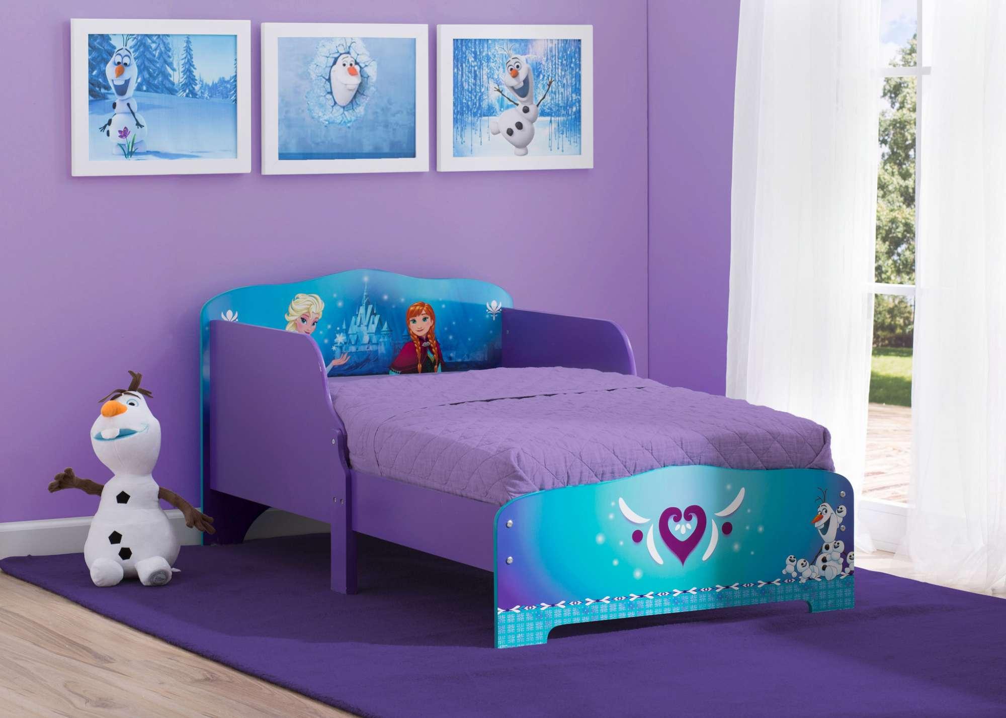 Dětská dřevěná postel se zábranou Ledové království - Frozen