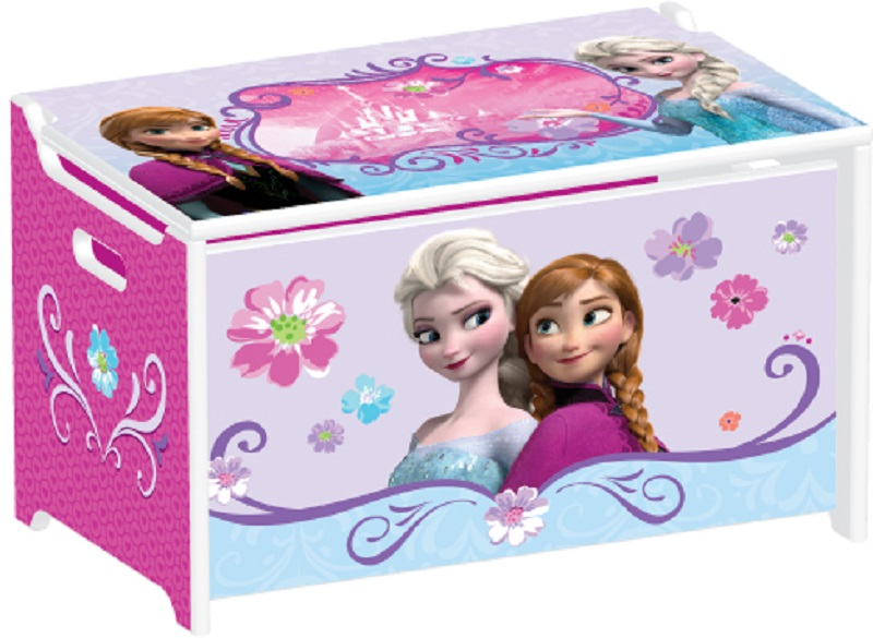 Truhla na hračky dřevěná Ledové království - Frozen