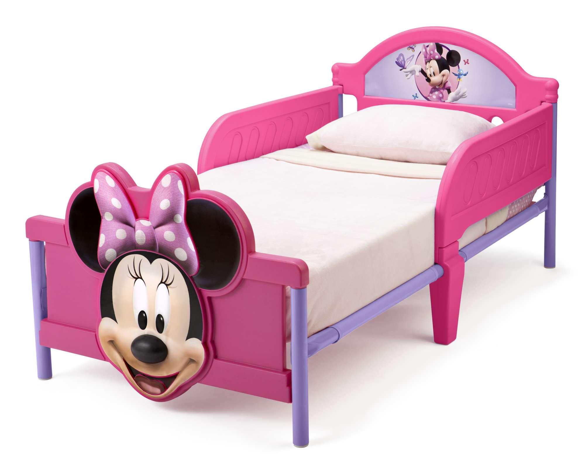 Dětská postel se zábranou Minnie Mouse