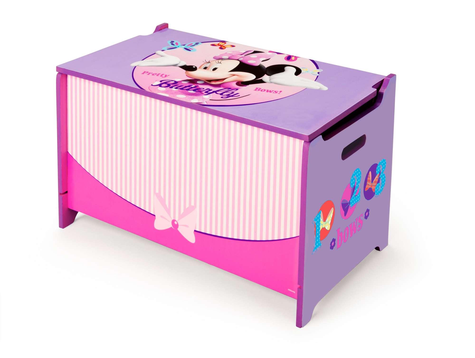 Dřevěná truhla na hračky Minnie Mouse