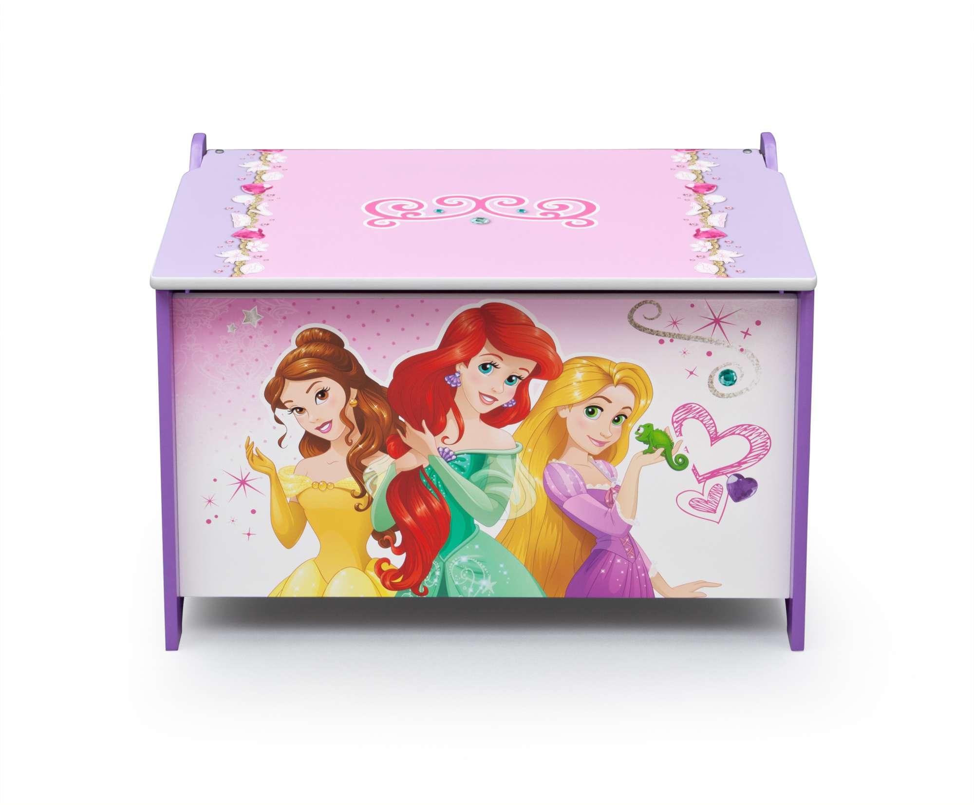 Dřevěná truhla na hračky Princezny - Princess