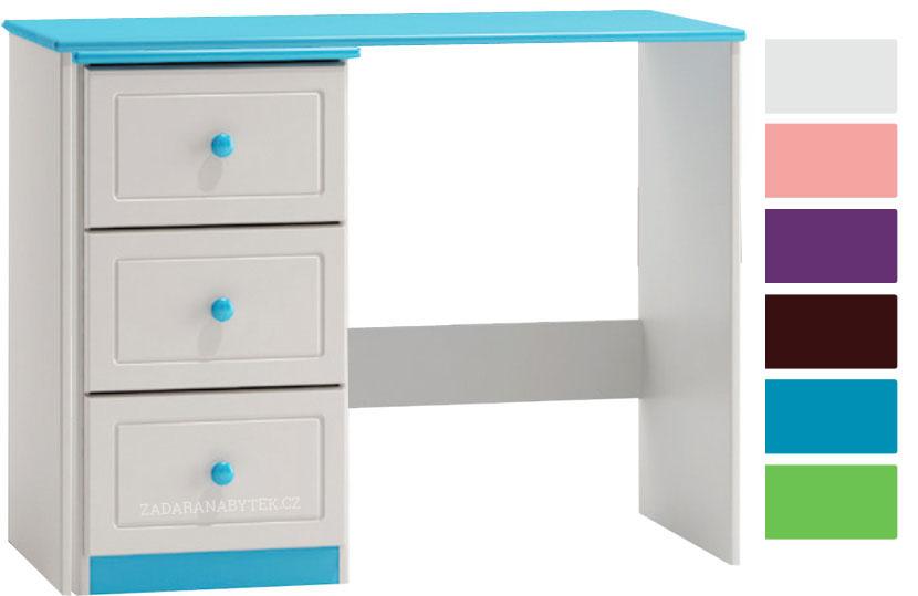 Bílý psací stůl se šuplíky Kiks ST12+BR10