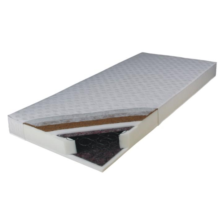 Matrace, oboustranný, pružinová, 80x200, KOKOS MEDIUM