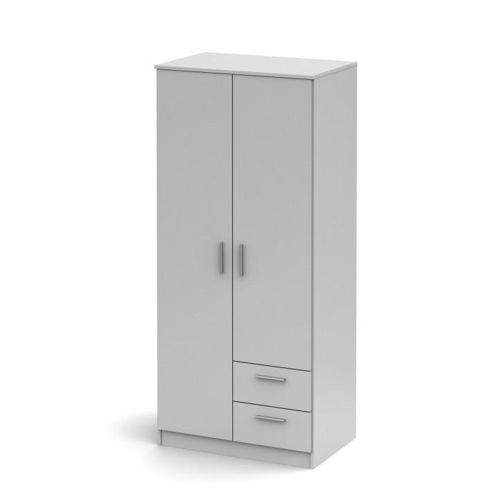 Skříň dvoudveřová se dvěma zásuvkami, bílá, Singa 81